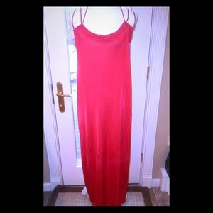 Wolford sz L red spaghetti strap scoop neck dress